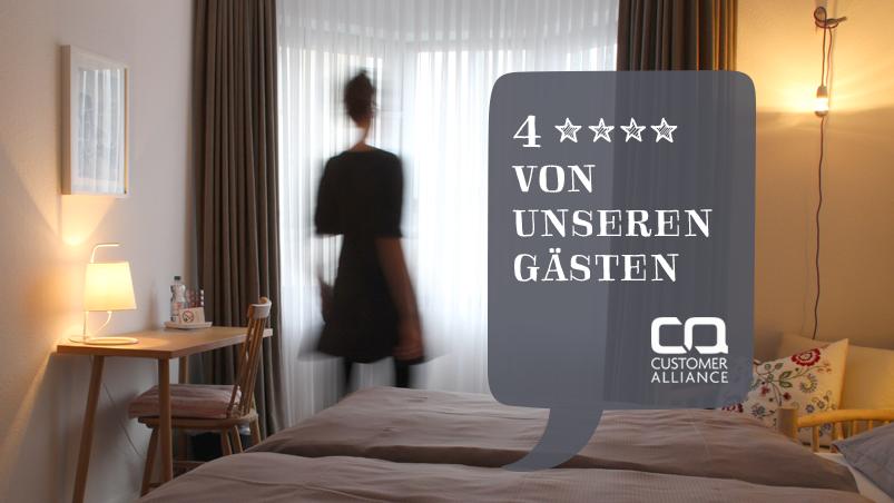 Customer Alliance, zufriedene Hotelgäste, Kundenbewertung Sehr gut, Frühstückshotel